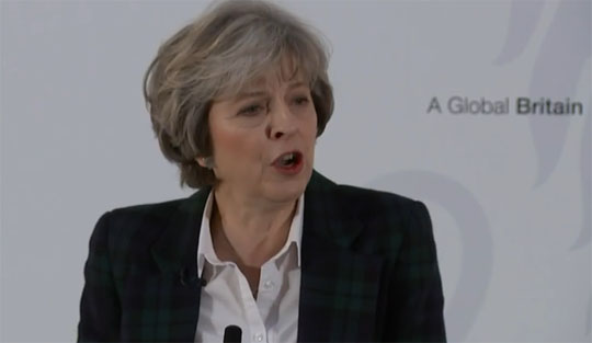 Watch: May Refuses to Answer Trident Questions Four Times