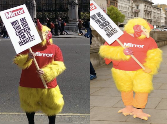 Mirror Chicken Fattened for Election Slaughter