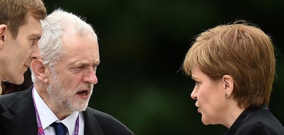 Corbyn and Sturgeon At Same Event