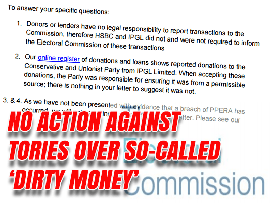 Electoral Commission Say No HSBC Cash Investigation - Guido Fawkes