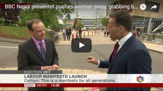 Reporter Grabs Boob Live on BBC