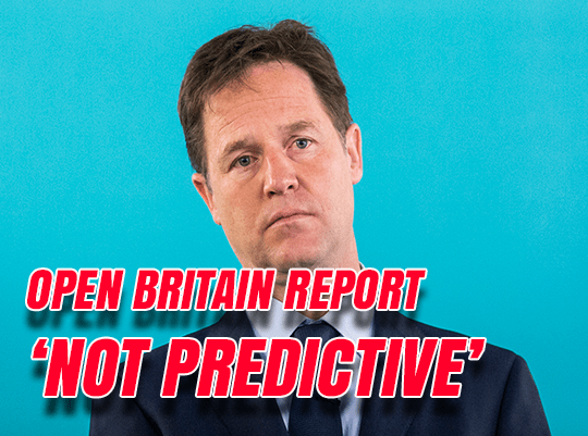 Clegg Spinning Brexit Doom Report
