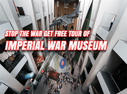 Stop the War Getting Free Tours at Imperial War Museum