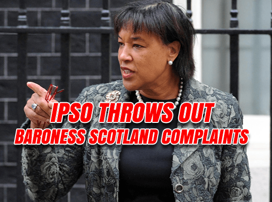 IPSO Throws Out Baroness Scotland Complaints