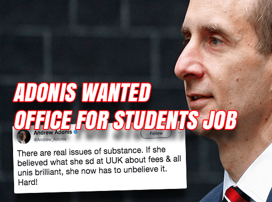 Angry Adonis Wanted 'Office for Students' Job