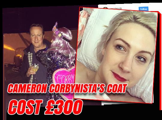 Cameron Ambush Corbynista's Coat Cost £300