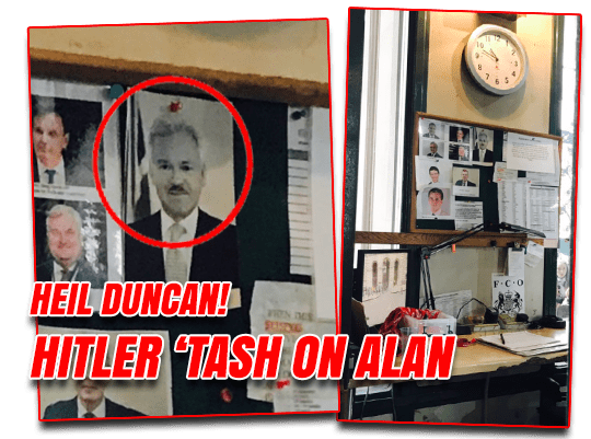 Heil Duncan! Hitler Tash on Alan