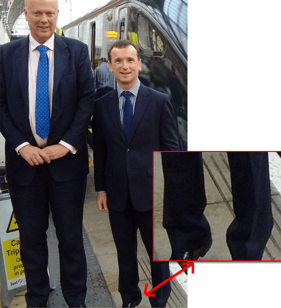 Alun Cairns' Tippy-Toes Pose