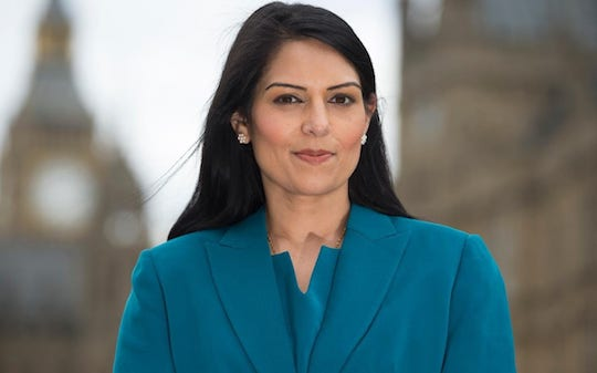 Priti Hands Dossier of Remain Collusion Evidence to Electoral Commission