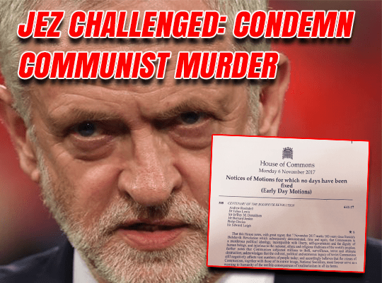 Will Corbyn Sign EDM Condemning Communism?
