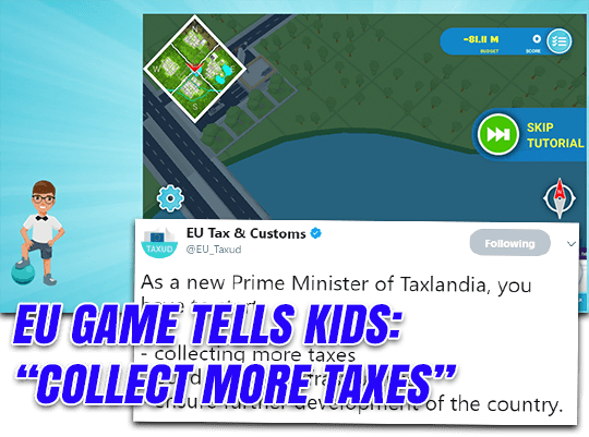 "EU Game Teaches Kids to ""Collect More Taxes"""