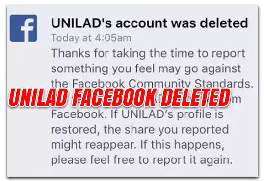 Unilad Deleted From Facebook