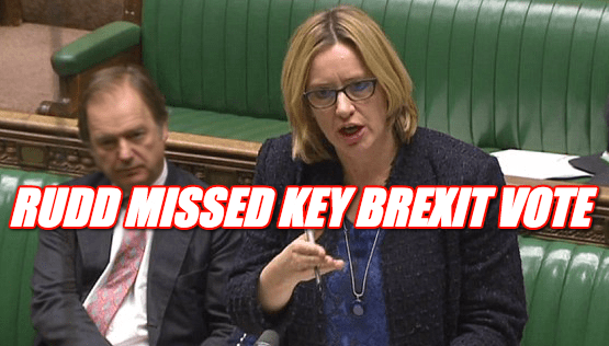 Rudd Missed Key Brexit Vote Last Night