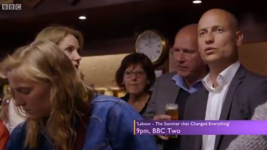 WATCH: Moment Stephen Kinnock Realises Corbyn Is Staying
