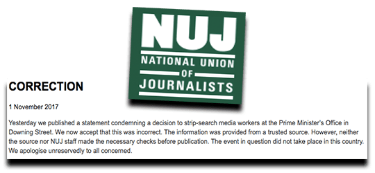 Correction of the Year From the NUJ
