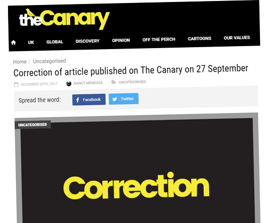 Canary: We Misrepresented the Facts About Laura K