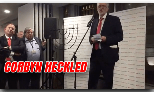 Corbyn Heckled at Chanukah Party