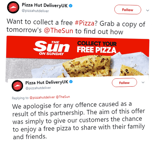 Spineless Pizza Hut Cave to Press-Hating Twitter Trolls