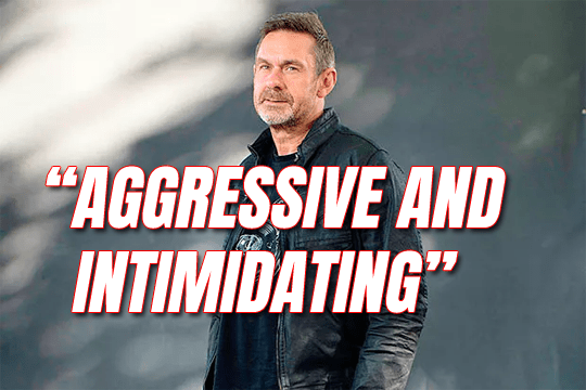 Paul Mason: Aggressive and Intimidating