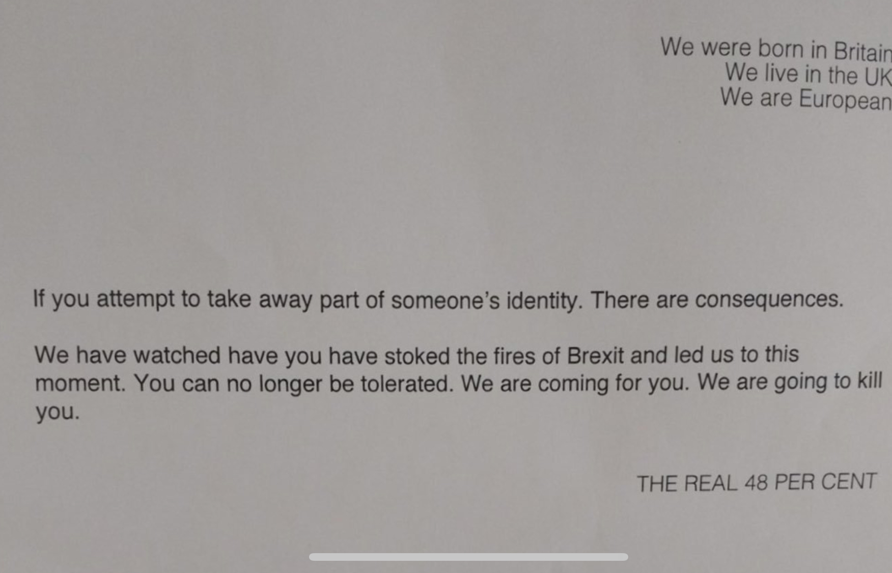 Remain Loons Send Death Threat to 80-Year-Old Brexiteer