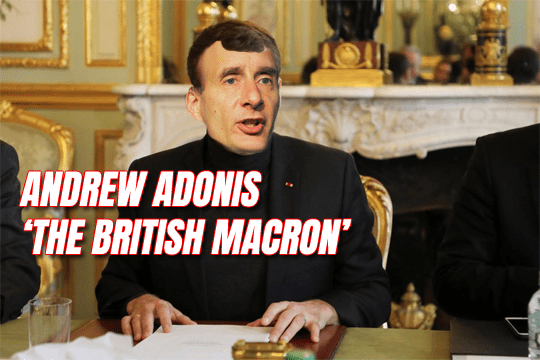 "Adonis Tipped to Set Up Centrist Party and Be ""British Macron"""