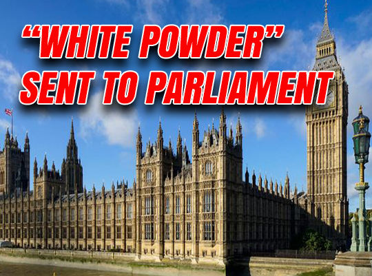 Terror Cops Probe White Powder Sent to Parliament