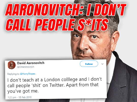 Aaronovitch Talking S*it