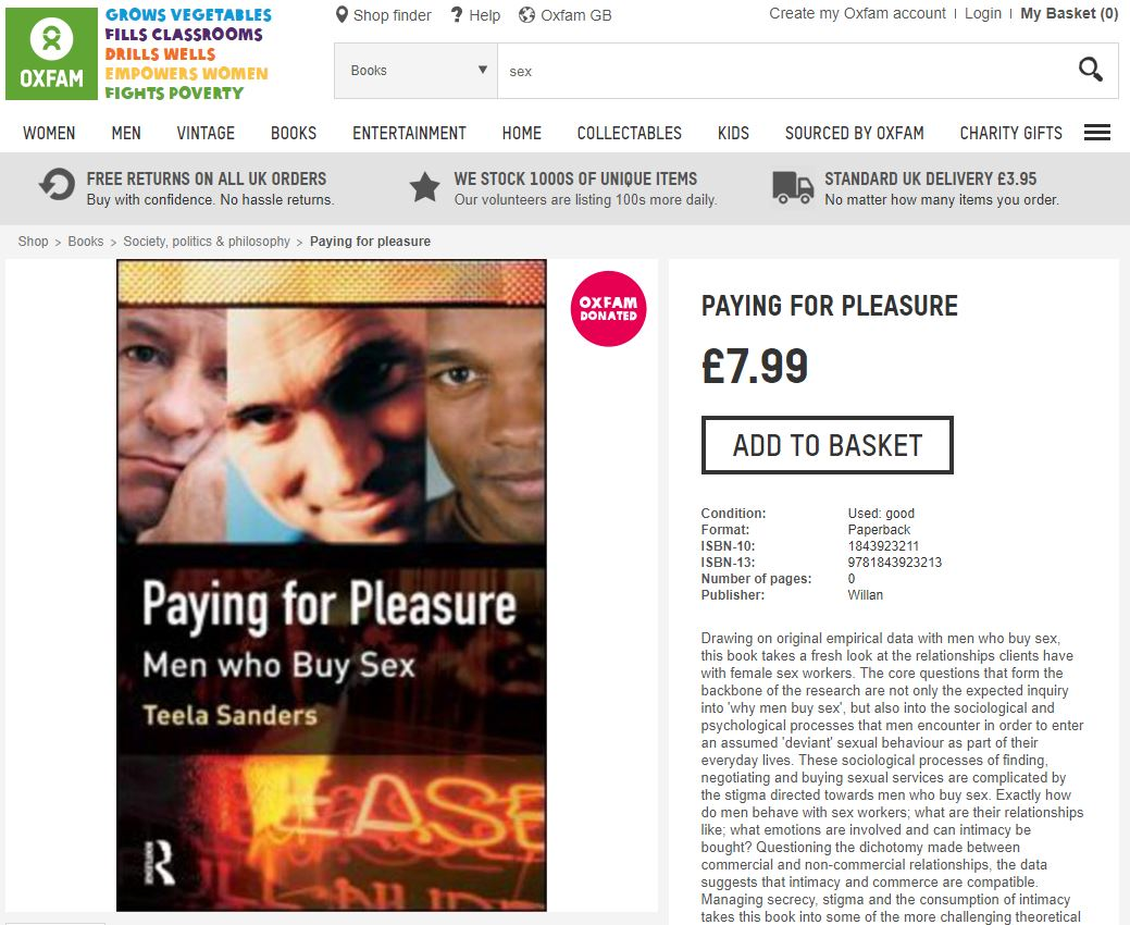 """Paying for Pleasure"" on Oxfam Online Shop"