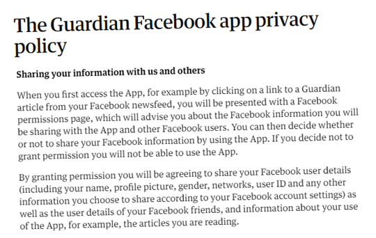 Guardian App Harvests Your and Your Friends' Facebook Data