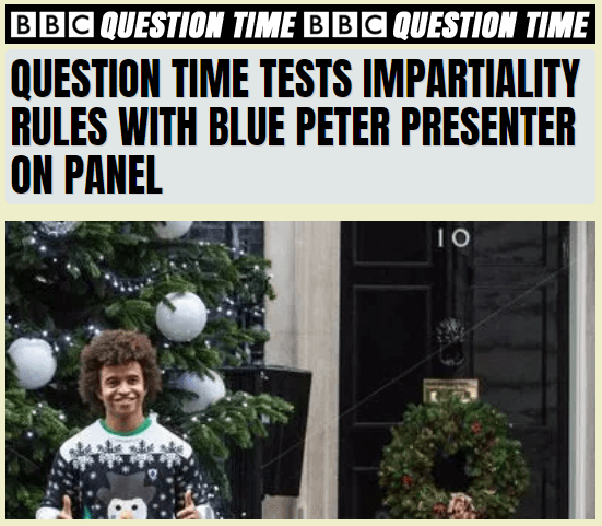 Blue Peter Presented on Question Time