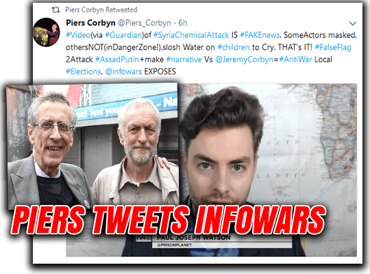 Piers Corbyn Tweets Infowars Video and Claims Syria Gas Attack Was