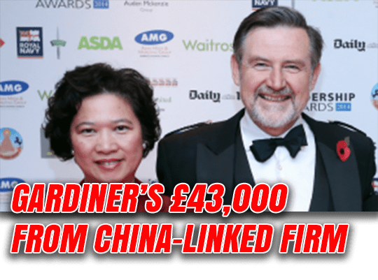 'Beijing Barry' Takes £43,000 from China-Linked Firm