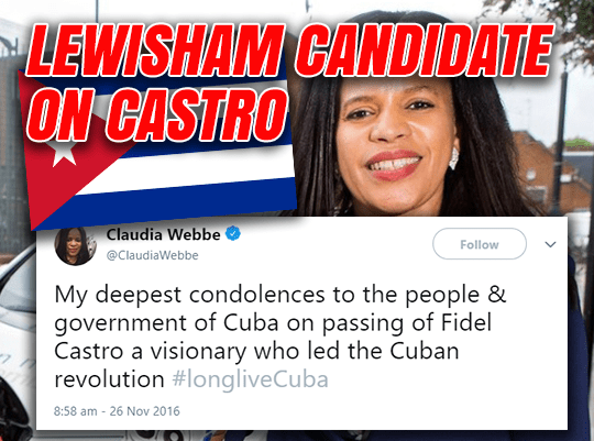 Corbyn-Backed Lewisham Candidate Loves Castro and Chavez