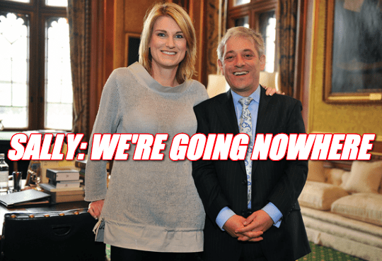Sally Bercow: We're Not Packing Bags Yet