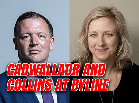 Cadwalladr and Collins to Share Platform at Byline Festival