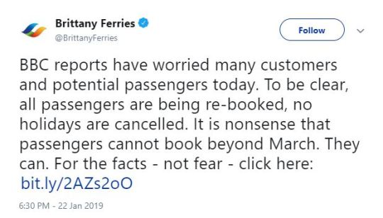 Brittany Ferries Accuse BBC of 'Nonsense' Scaremongering