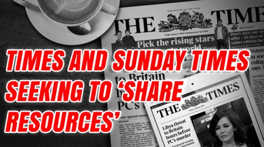 Leaked Email Hints At Job Cuts at the Times and Sunday Times