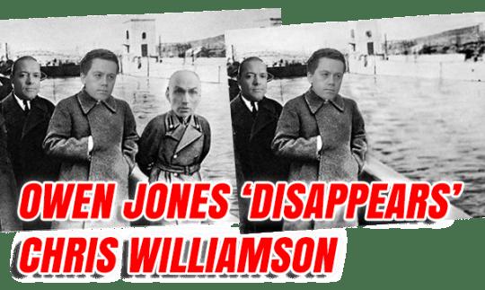 Owen Jones 'Disappears' Chris Williamson