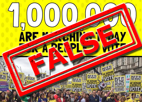 People's Vote's One Million Claim False