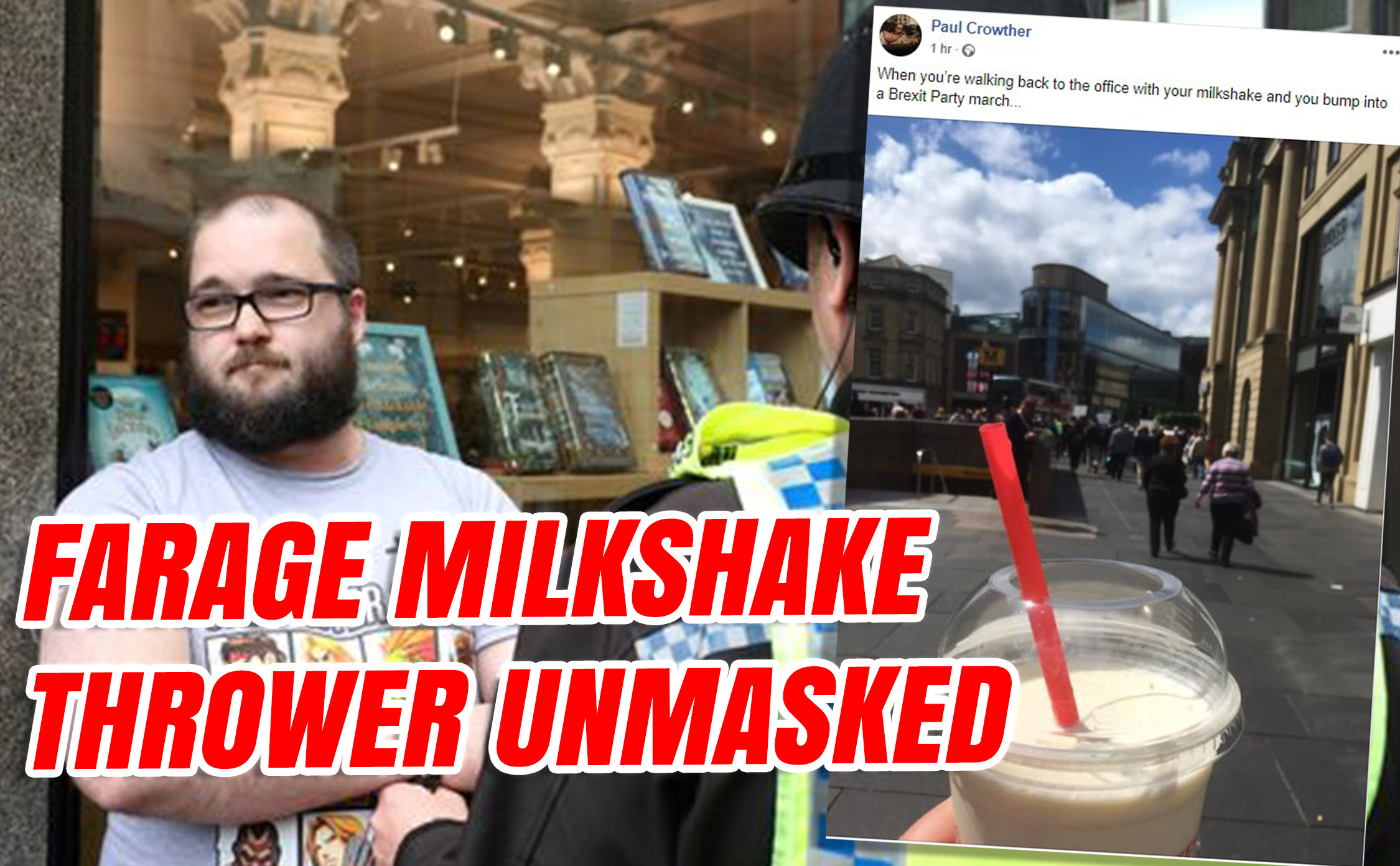 Farage Milkshaker Unmasked