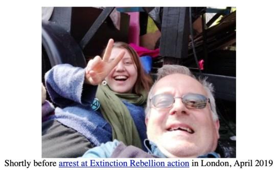 Extinction rebellion arrest