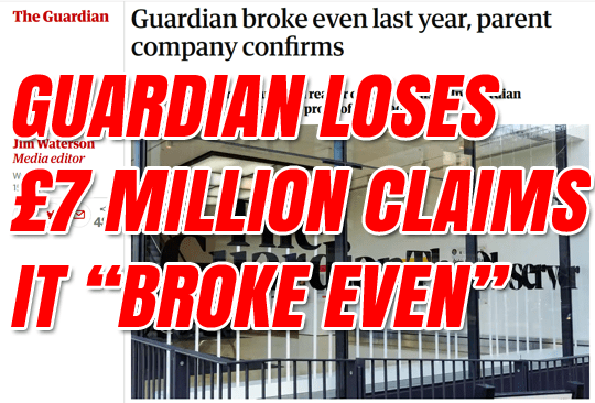 Guardian Lost £7 Million Last Year