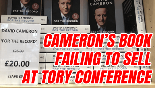 Cameron's Memoirs Reduced by 20% at Tory Conference