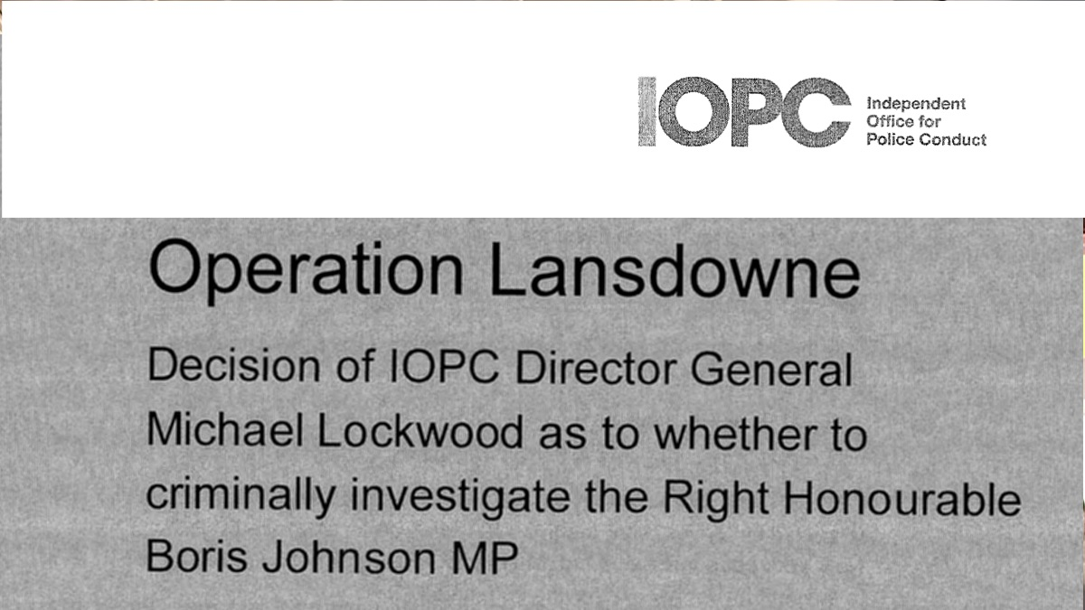 Read in Full: IOPC Review of Boris's Relationship with Jennifer Arcuri