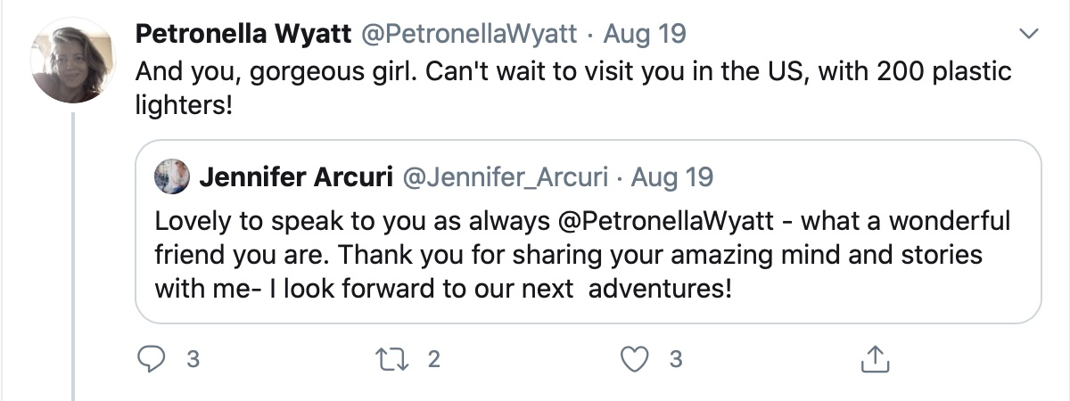 Petronella Wyatt & Jennifer Arcuri Sharing Stories
