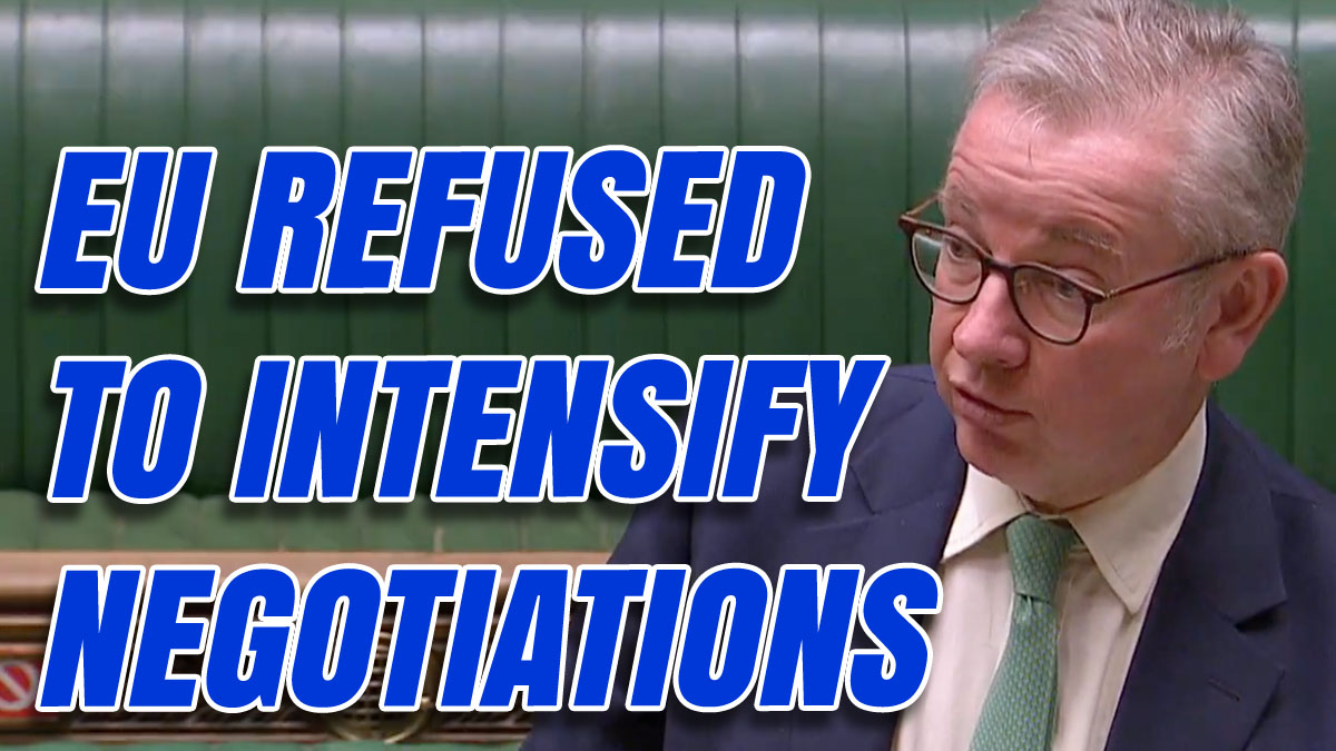 """Gove Explains Why Negotiations are """"Effectively Over"""""""