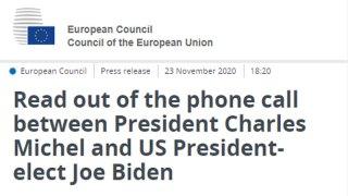 US President-Elect Calls EU Council President, Finally
