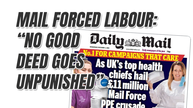 Our Good Deeds Are Being Punished Claims Daily Mail