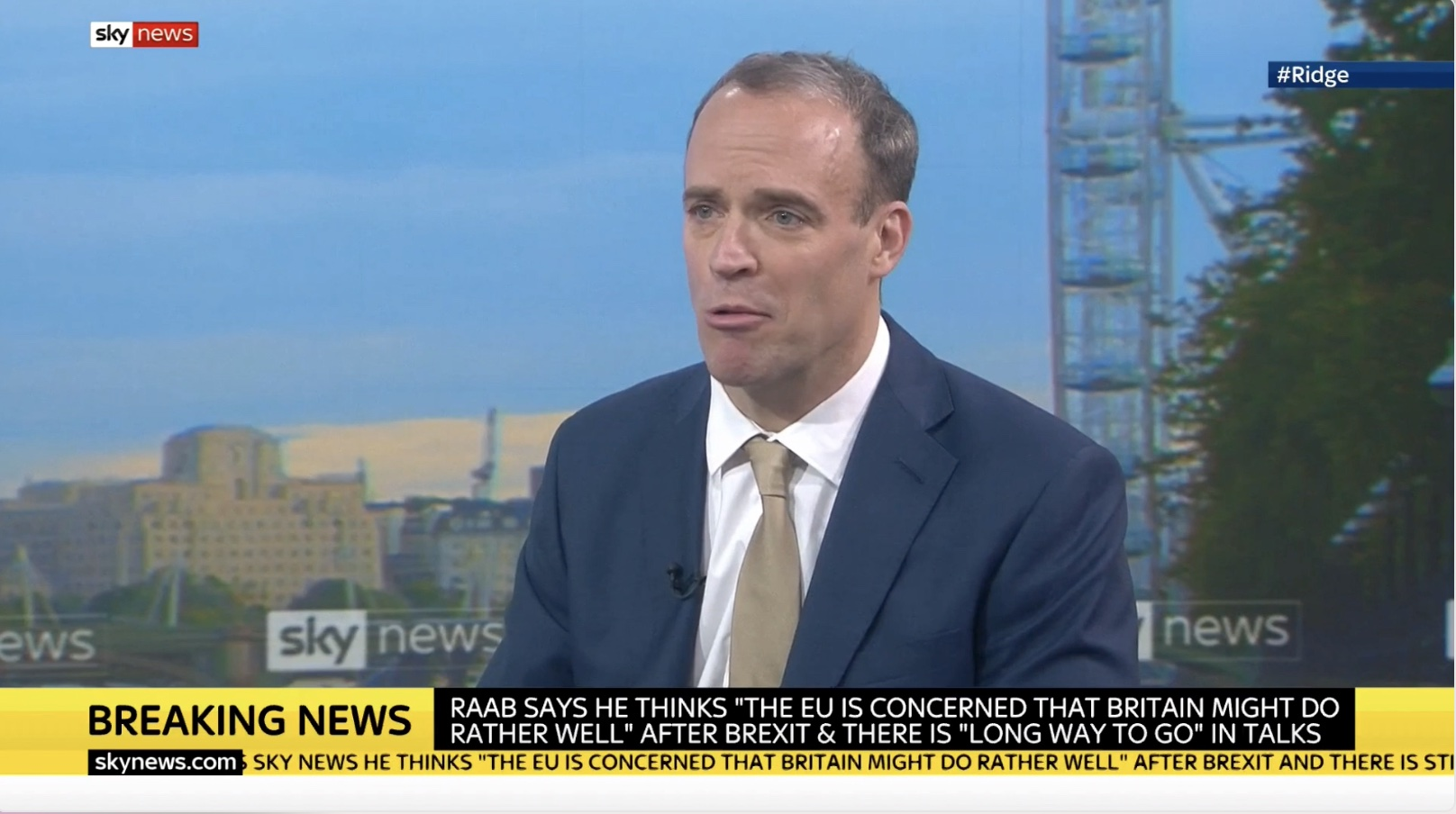 """Raab: EU is Worried UK will do """"Rather Well"""" Out of Brexit"""