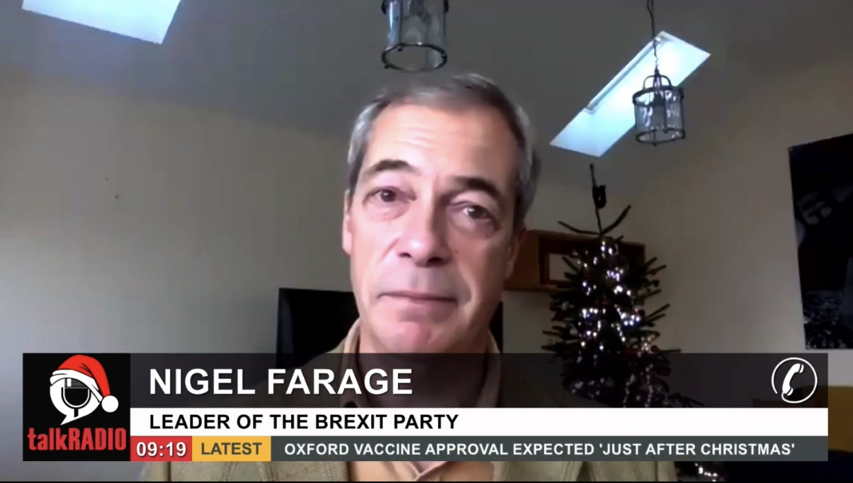 """Farage on the Deal: """"The War is Over"""", """"It's Not Perfect, but Goodness Me it's Still Progress."""""""